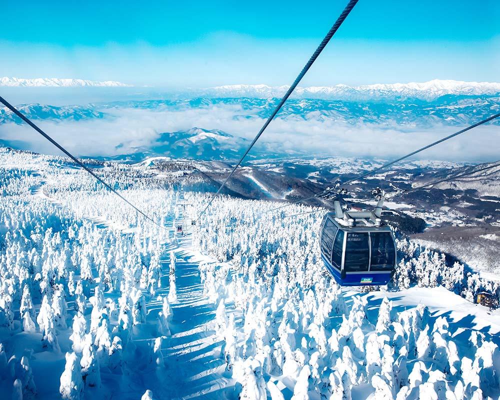 スキー 山形 天気 蔵王 場